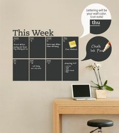 Me encanta para la pared del escritorio de mi hija - wall stickers quotes | Easy Office Decorating Tips