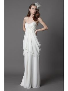 Sheath Sweetheart Chiffon Bridal Gown