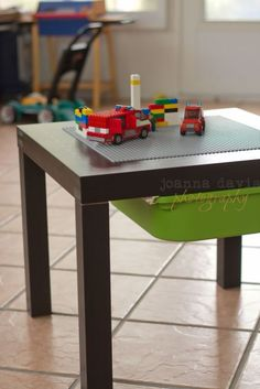 A custom play table could cost a pretty penny, but this ingenious DIY took only $30 to make.