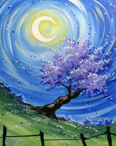 On July 17 at Cadillac Bar & Grill Easy Canvas Painting, Simple Acrylic Paintings, Acrylic Art, Diy Painting, Painting & Drawing, Canvas Art, Beginner Painting, Learn To Paint, Painting Inspiration