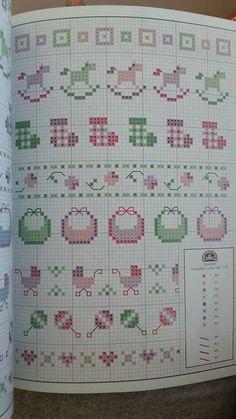 Tiny Cross Stitch, Baby Cross Stitch Patterns, Cross Stitch For Kids, Simple Cross Stitch, Cross Stitch Borders, Cross Stitching, Cross Stitch Embroidery, Embroidery Patterns, Knitting Patterns