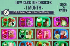 Low Carb Kids - 1 Month Of Sugar Free Lunch Boxes