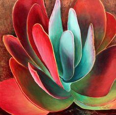 Garnet Jewel Painting  by Sandi Whetzel