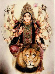 Navratri Puja will help you overcome all your negativities. Flourish with wealth on this Navratri by offering Homam to Lakshmi, Saraswathi & Durga. Shiva Hindu, Shiva Shakti, Hindu Deities, Hindu Art, Krishna, Durga Puja, Saraswati Goddess, Goddess Art, Goddess Lakshmi