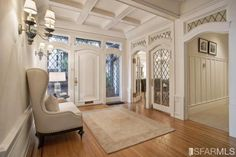 ceiling and chair and windows...love them all