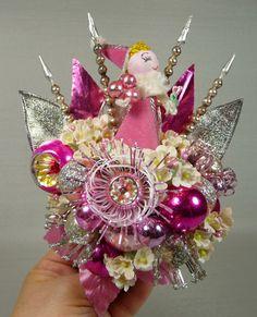pink christmas corsage