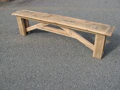 Reclaimed Wood Bench. $400.00, via Etsy.