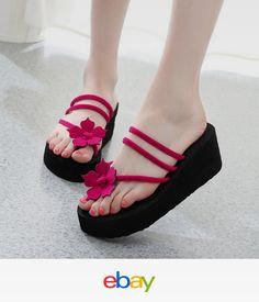 6c9f452e8208 2018 Women Wedge Flip Flops Thick Platform High Heel Slippers Thong Sandals  Shoe