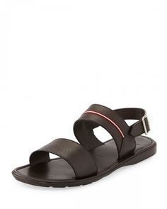 Bally Daiki Fisherman Strappy Leather Sandals Black Men's 8d Brown | Shoes and Footwear