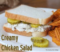 Creamy Chicken Salad Recipe from The Country Chic Cottage