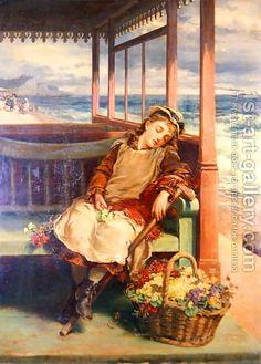 Nicholas Chevalier:The Flower Seller