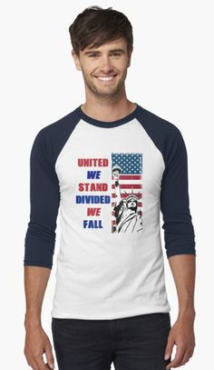 Be true to your Red White & Blue and wear this with pride! Whether you're #Army, #Marines, #Navy or #Air Force, #Veteran or proud #American citizen; show how you feel with these patriotic themes that's perfect for you and as a gift too.  veteran, veterans, united states, patriotism, country, patriot, america, united states of america, american, usa, patriotic, army, soldier, military, vet, patriotic american, slogan, sayings, motivation, pride, proud Veterans United, Divided We Fall, United We Stand, Patriotic Shirts, Army Soldier, Be True To Yourself, Red White Blue, Slogan, Air Force