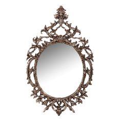 Miroir fer forg brun et vieil or f erique richesse for Image miroir photoshop