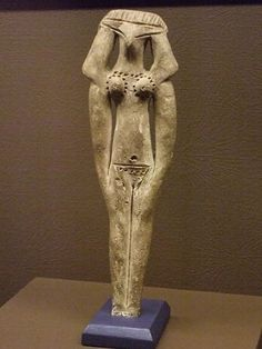 This Funerary Model of a Woman from the MIddle Kingdom in Egypt resembles some figurines I have seen from ancient Mesoptamia by mharrsch, via Flickr