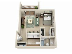 studio apartment ideas layout - Google Search