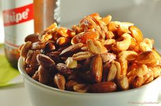 Beer Nuts recipe, easy candied nuts, caramelized nuts