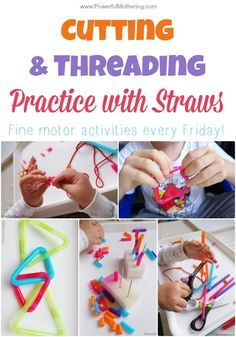 Practice cutting skills with straws and fine motor skills at the same time. These ideas are sure to engage toddlers and preschoolers alike!