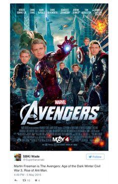 Martin Freeman's character(s) in Captain America: Ciivil War