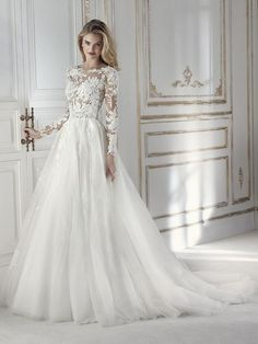 Wonderful Perfect Wedding Dress For The Bride Ideas. Ineffable Perfect Wedding Dress For The Bride Ideas. Wedding Dress Sleeves, Long Sleeve Wedding, Long Wedding Dresses, Bridal Dresses, Wedding Gowns, Lace Sleeves, 2017 Wedding, Bling Wedding, Tulle Wedding
