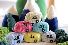 Mini #Crochet Advent Caravans! by Greedy For Colour