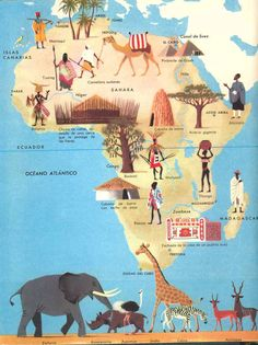 Herbert Pothorn - Vintage map of Africa