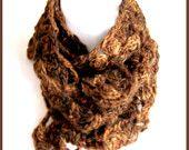Woodland Scarf http://www.etsy.com/listing/5179905/woodland-brown-crochet-scarf-handspun?ref=tre-1633038955-13
