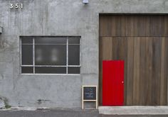 Thibault Fregoni of Monsieur Truffe invites you to enter in through a conspicuous red door and experience his new atelier-style cafe. Coffee Bread, Cafe Me, Melbourne Wedding, Real Couples, Architecture, Places, Outdoor Decor, House Ideas, Colour