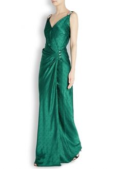 Temperley Faye jade silk jacquard gown -- maybe too Keira-in-Atonement-y?