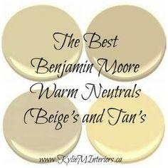 the best benjamin  moore warm neutrals beige and tan