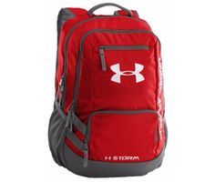 """UA Storm technology delivers an element-battling, highly water-resistant finish with a tough, abrasion-resistant bottom panel. more backpack features: - Soft lines laptop sleeve - holds up to 15"""" lapt"""