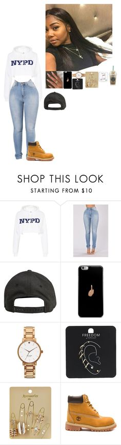 """Untitled #416"" by bxbygirlslays ❤ liked on Polyvore featuring Topshop, Billabong, Kate Spade, Accessorize, Happy Plugs and Timberland"