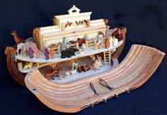 Noah's Ark Plan - My little guy would flip over this! Our plastic Fisher Price will not do. He keeps handing me his Citiblocs and asking me to build it out of wood. This is the closest I could find to what I know he would like. Pinning to buy the plans.