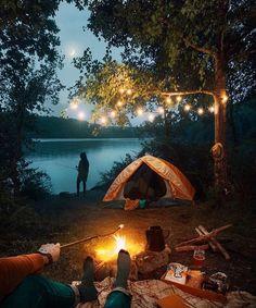 Trendy Camping Acampar Fotos Ideas - New Ideas Camping 3, Camping Hacks, Camping Ideas, Lakeside Camping, Romantic Camping, Romantic Getaway, Camping Essentials, Outdoor Camping, Outdoor Life