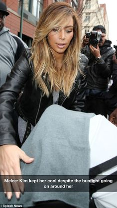 Kim Kardashian's blond hair