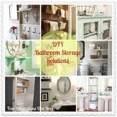 diy Bathroom storage ideas from Four Generations One Roof