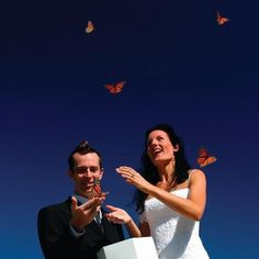 Ceremony idea! Releasing butterflies after your 'I DO's'. Photo via www.butterflyreleases.com.au.