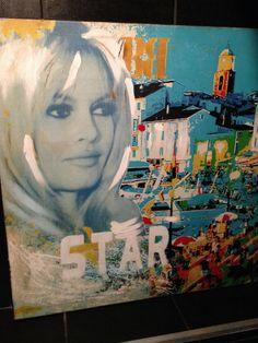 x Saint Tropez, Ste Maxime, France, French Riviera, Brigitte Bardot, Bobs, Painting, Art, Travel