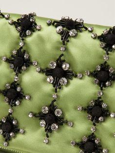 Giorgio Armani Crystal Embellished Clutch - Stefania Mode - Farfetch.com
