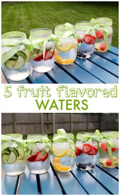 Fruit flavored water is naturally flavored with fresh fruit and herbs and sure to quench your thirst in a healthy refreshing way MomNutrition Good Healthy Recipes, Vegan Recipes Easy, Vegetarian Recipes, Healthy Choices, Free Recipes, Infused Water Recipes, Fruit Infused Water, Fruit Water, Healthy Smoothies