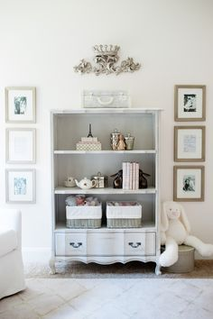 French inspired nursery decor for baby girl: Parisian style bookcase and furniture from @rhbabyandchild
