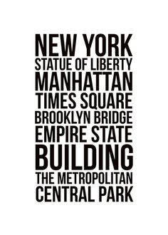 New York city, poster i gruppen Posters och prints hos Desenio AB New York Poster, City Poster, Poster Shop, Poster Prints, Manhattan New York, Manhattan Times Square, New York City, Map Of New York, Black And White