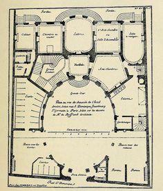 Plan of Boffrand's Hôtel Amelot on Rue Saint Dominique, Paris