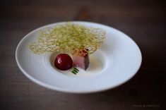 """Una hiper crujiente tortita de garbanzos y Plancton marino, al estilo """"tortita de camarones"""" pero sustituyendo a éstos por el int..."""