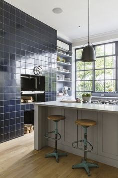 Steal This Look: An Industrial Kitchen in Brooklyn, Wood Burning Stove Included