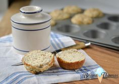Low Carb/Gluten Free Parmesan Herb Biscuit Muffins