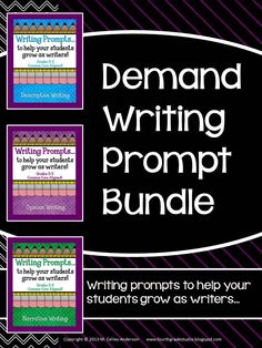 This bundled set of my demand writing prompts might just change the way you assess writing in your classroom!  This is totally changed how I can quickly get a feel for how my students are doing--and can track their progress all year!  Has descriptive, narrative, and opinion prompts!  $9