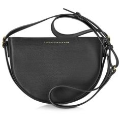 Victoria Beckham Handbags Black Embossed Leather Baby Half Moon Bag (€1.220) ❤ liked on Polyvore featuring bags, handbags, shoulder bags, embossed leather handbags, man bag, handbags shoulder bags, embossed leather purse and leather hand bags
