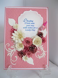 Flowers, Ribbons and Pearls: Playing with Spellbinders...