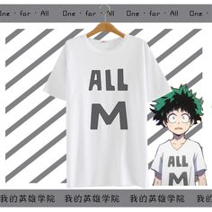 >> Click to Buy << Fashion Boku no Hero Academia Midoriya Izuku Cosplay Tees T-Shirts Harajuku Cotton Cartoon Summer Tops T shirts #Affiliate