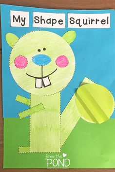 My Shape Squirrel & Paper Craft Techniques - Let us help you improve your classroom craft time. We've got several tips and tricks to teach your students specific techniques - Drawing Patterns, Paper Tearing, Paper Chipping, Fringing, Pleating, Paper Rolling, Twisting, & Tufting. Take a look at our demonstrations. | #FromThePond #PaperCraftTechniques #DrawingPatterns #PaperTearing #PaperChipping #Fringing #Pleating #PaperRolling #Twisting #Tufting #TeacherTips #PaperCrafts Preschool Learning Activities, Classroom Activities, Preschool Crafts, Pond Animals, Teaching Shapes, Shapes For Kids, Classroom Art Projects, 1st Day Of School, Shape Crafts